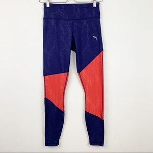 Puma Leggings XS Dry Cell Navy Blue Pink Athletic